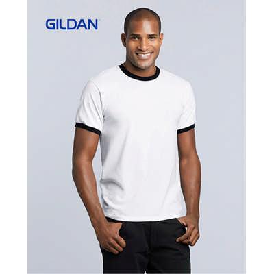 Gildan Dryblend Adult Ringer T-Shirt White